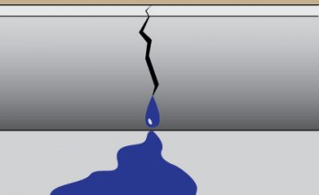 concrete curb water leak
